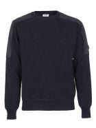 C.P. Company C.p. Company Shoulder Patch Sweater - Blue