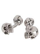 Alexander McQueen Silver-tone Brass 3d Skull Cufflinks - 0446+SW.B.DIAMOND