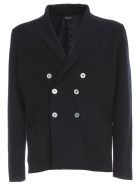Drumohr Double Breasted Knitted Jacket - Blue
