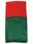 Gucci Gucci Two Tone Logo Scarf - GREEN + RED