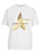 Golden Goose Golden T-shirt - WHITE + GOLD PRINT