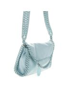 Stella McCartney Candy Mini Falabella In Marine Blue Fabric - Blu marine
