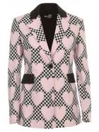 Love Moschino Jacket W/heart Race - Pink