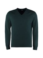 Drumohr V-neck Wool Sweater - green