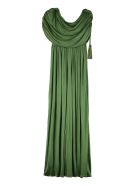 Lanvin Draped Jersey Gown - green