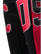 GCDS Black And Red Cotton Trackpants - Rosso