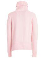 Be Blumarine Sweater L/s High Neck W/braid - Cipria