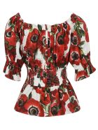 Dolce & Gabbana Off-shoulder Floral Blouse - Basic