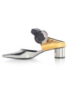 Proenza Schouler Mirror Closed Sandals W/40 Heel And Knot - Specchio