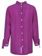 Jejia Rear Buttoned Shirt - Fuchsia