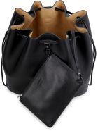 Jil Sander Leather Bucket Bag - black