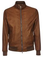 Barba Napoli Zipped Leather Bomber - Land