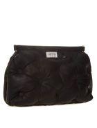 Maison Margiela Large Glam Slam Black Leather Bag - Black