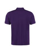 Ami Alexandre Mattiussi Patch Embroidered Cotton Piqué Polo Shirt - purple
