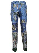 For Restless Sleepers Printed Trousers - F.do Azzurro