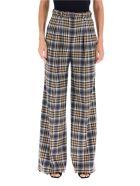 Gabriela Hearst Vargas Tartan Trousers - CAMEL GREY CHECK (Brown)