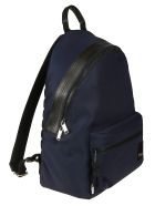 Christian Dior Logo Patch Backpack - Blue