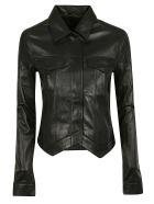 RTA Asymmetric Leather Jacket - Bknt