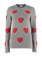 Prada Crew-neck Virgin Wool Sweater - grey