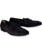 Doucal's Suede Leather Loafers - blue