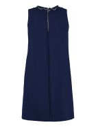 Boutique Moschino A-line Dress With With Decorative Piercing - blue