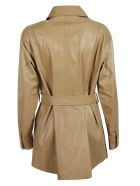 DROMe Tie Waist Coat - Brown