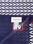 Valentino Garavani V Pattern Scarf - B9a Marine/ivory/red