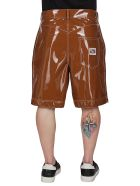 GCDS Brown Vinyl Shorts - Brown