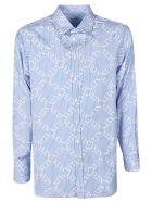 Valentino Logo Grid Shirt - Azure