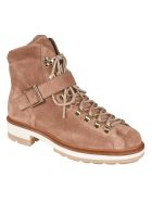 Santoni Front Strap Laced-up Boots - Brown