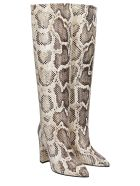 Paris Texas High Heels Boots In Animalier Leather - Animalier