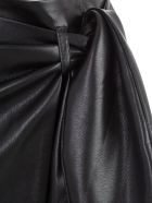 Nanushka Skirt Straight Satin - Black