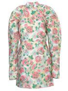 Rotate by Birger Christensen Mik Jacquard Dress L/s Mini Printed - Morning Glory Comb