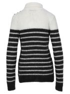 Balmain Striper Jumper - BLACK/WHITE