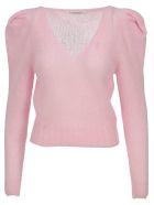 Philosophy di Lorenzo Serafini Philosophy V-neck Knit Sweater - PINK