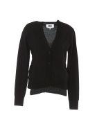 MM6 Maison Margiela Wool Cardigan - Black