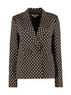 MICHAEL Michael Kors Printed Double Breasted Blazer - black
