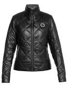 Philipp Plein Quilted Coat With Logo - BLACK