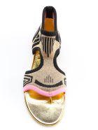 Prada Thong Knit Flat Sandals - F Begonia+nero