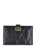 Givenchy Gv3 Quilted Leather Wallet - black