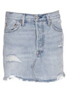 Levi's Distressed Denim Skirt - Denim