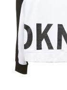 DKNY Logo Print Hoodie - Nero bianco