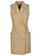 Balmain Double Breasted Dress - Brown