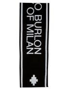 Marcelo Burlon Jacquard Logo Football Scarf - Black/White