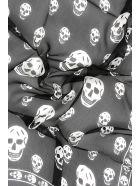 Alexander McQueen Skull Silk Scarf - BLACK IVORY (Black)