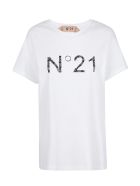 N.21 Logo Scotch T-shirt - Biancoottico