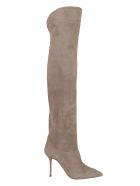 Aquazzura Lancaster Boot 95 - Alg Alpaca Grey