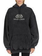 Balenciaga Bb Chain Oversized Hoodie - Grigio