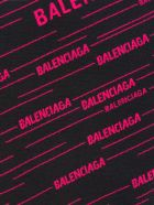 Balenciaga Knitted Logo Jumper - BLACK + FUCHSIA