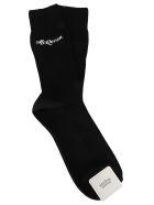 Alexander McQueen Black Cotton Socks - Black